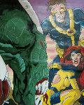 Comic Original II (Signed by Stan Lee and Kaufman) Unique 1995 Original Painting - Steve Kaufman