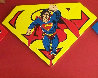 Superman Shield Set of 3 Matching Numbers  2001 Limited Edition Print by Steve Kaufman - 3