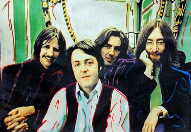 Beatles 19x13 Limited Edition Print by Steve Kaufman