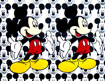 Disney Double Mickey Mouse 2000 38x48 Original Painting - Steve Kaufman