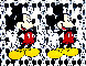 Disney Double Mickey Mouse 2000 38x48 Original Painting by Steve Kaufman - 0