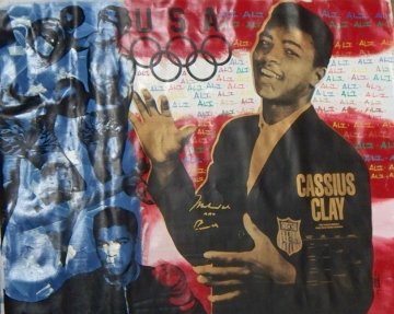 Muhammed Ali Olympic Red White and Blue 1986 40x40 HS Ali Limited Edition Print - Steve Kaufman