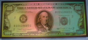 100 Dollar Bill unique Original Painting by Steve Kaufman