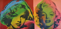 Double Marilyn Monroe, Red and Pink 2005 Limited Edition Print by Steve Kaufman - 0
