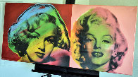 Double Marilyn Monroe, Red and Pink 2005 Limited Edition Print by Steve Kaufman - 1