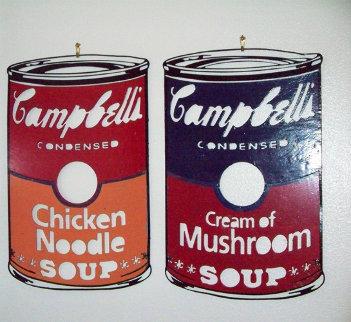 Campbell's Soup Can Metal Sculptures 1990 Sculpture by Steve Kaufman