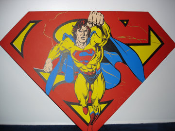 Superman Shield (Red) 1995 Limited Edition Print - Steve Kaufman