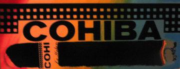 Cohiba silkscreen on canvas Limited Edition Print by Steve Kaufman