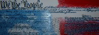 We the People Constitution Embellished Limited Edition Print by Steve Kaufman - 0