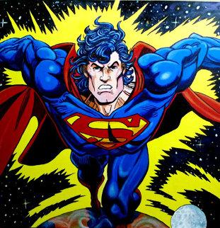 Superman 1995 Unique 38x38 Original Painting by Steve Kaufman