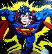 Superman 1995 Unique 38x38 Original Painting by Steve Kaufman - 0