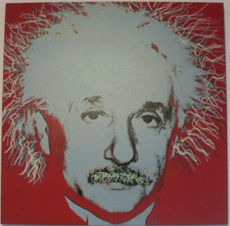 Albert Einstein 1998 Embellished Limited Edition Print - Steve Kaufman