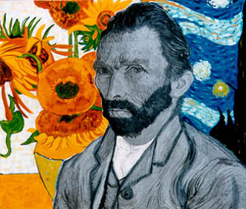 Van Gogh Embellished Limited Edition Print by Steve Kaufman