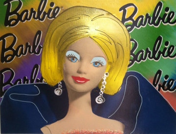 Barbie Doll Unique 1997 25x31 Original Painting - Steve Kaufman