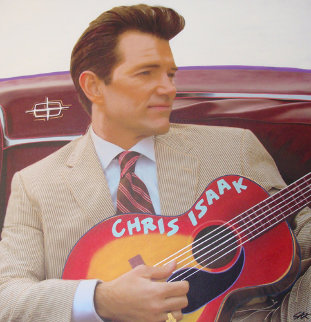 Chris Isaak Unique 2007 50x48 Original Painting by Steve Kaufman