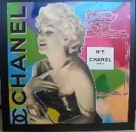 Marilyn Chanel No 5 Unique  2000 47x47 Super Huge Original Painting by Steve Kaufman - 1