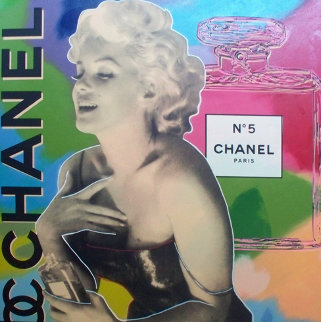 Marilyn Chanel No 5 Unique  2000 47x47 Super Huge Original Painting - Steve Kaufman