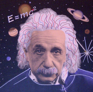 Albert Einstein E=mc2 Limited Edition Print by Steve Kaufman