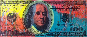 $100 Dollar Bill - Ben Franklin Unique  Limited Edition Print - Steve Kaufman