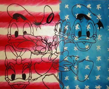 All American Donald and Daisy Duck Limited Edition Print by Steve Kaufman