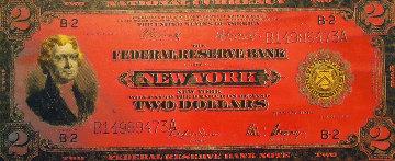 $2.00 Two Dollar Jefferson Bill Limited Edition Print by Steve Kaufman