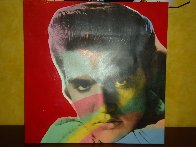 Elvis State VII -Young Embellished Limited Edition Print by Steve Kaufman - 1