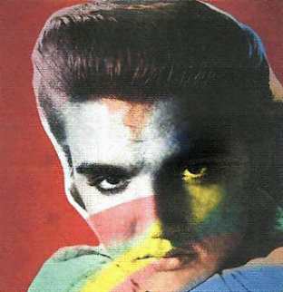 Elvis State VII -Young Embellished Limited Edition Print by Steve Kaufman