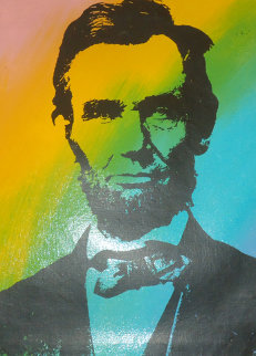 Abe Lincoln Portrait AP Limited Edition Print by Steve Kaufman