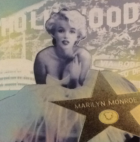 Hollywood Marilyn Embellished Limited Edition Print by Steve Kaufman