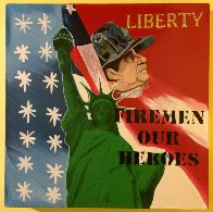 Liberty - Fireman Our Heroes 9/11 Tribute  Limited Edition Print by Steve Kaufman - 1