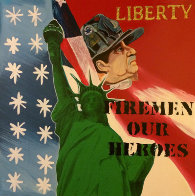 Liberty - Fireman Our Heroes 9/11 Tribute  Limited Edition Print by Steve Kaufman - 0