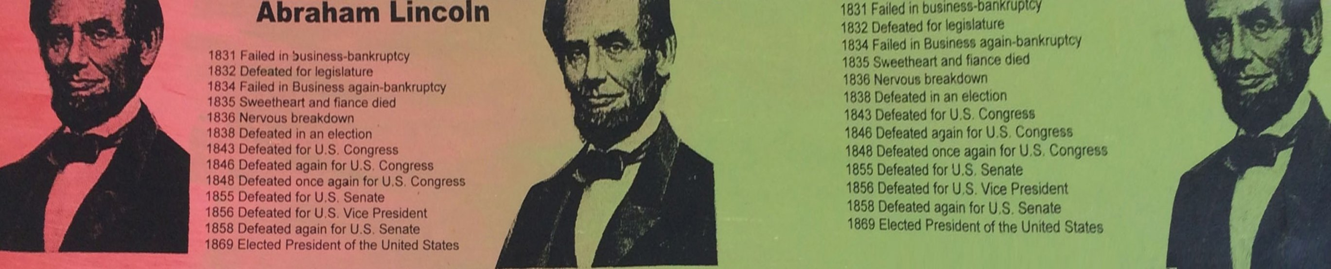 Abe Lincoln Portrait of an Achiever PP Limited Edition Print by Steve Kaufman