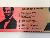 Abe Lincoln Portrait of an Achiever PP Limited Edition Print by Steve Kaufman - 6