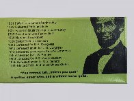 Abe Lincoln Portrait of an Achiever PP Limited Edition Print by Steve Kaufman - 8