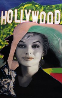 Marilyn, Sophisticated Marilyn - Hollywood Style Unique 46x28 Original Painting - Steve Kaufman