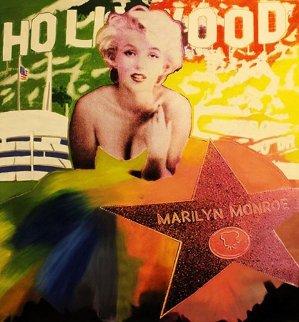 Marilyn: Hollywood Star Unique 48x48 Super Huge Original Painting - Steve Kaufman