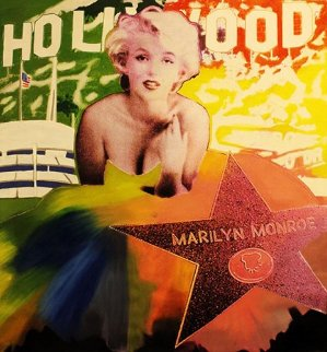 Marilyn: Hollywood Star Unique 48x48 Original Painting by Steve Kaufman