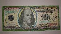 $100 Bill Original Painting by Steve Kaufman - 4