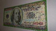$100 Bill Original Painting by Steve Kaufman - 1