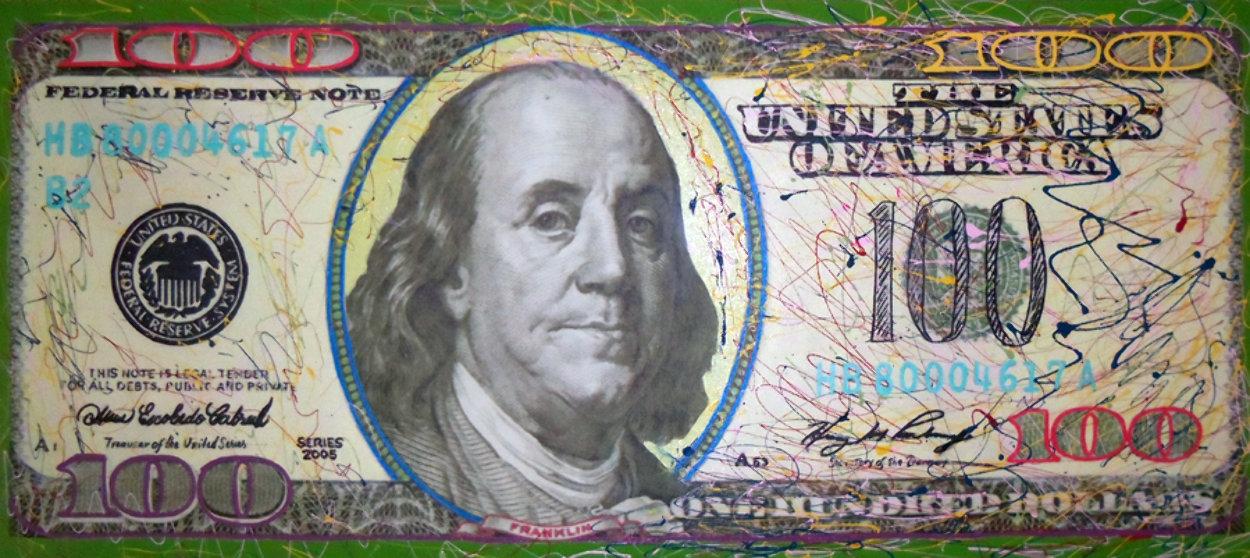 $100 Bill Original Painting by Steve Kaufman