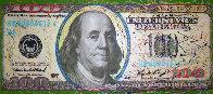 $100 Bill Original Painting by Steve Kaufman - 0