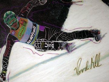 Bodie Miller, Billy Kidd Julia Mancuso in Action, Suite of 4 Paintings 2007 Original Painting by Steve Kaufman
