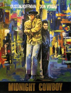 Midnight Cowboy Unique 45x34 Original Painting by Steve Kaufman