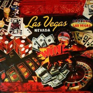 Lucky Las Vegas Unique 42x42 Original Painting by Steve Kaufman