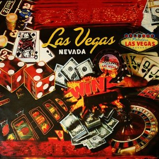 Lucky Las Vegas Unique 42x42 Original Painting by Steve Kaufman