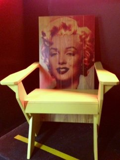 Marilyn Monroe Adirondack Chair #1 2007 Unique Other by Steve Kaufman