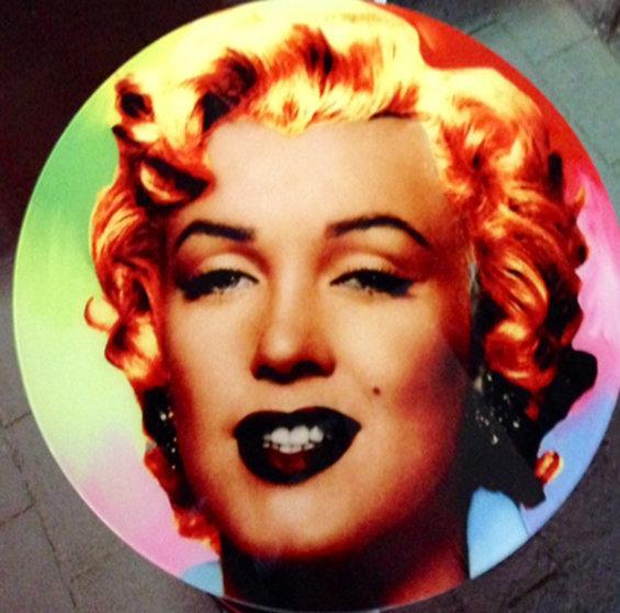 Marilyn Monroe Glass And Chrome Coffee Table #1 2007 Sculpture by Steve Kaufman