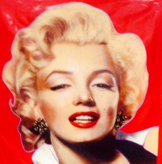 Hollywood Beauty Marilyn 1996 Unique 48x48 Huge Original Painting - Steve Kaufman