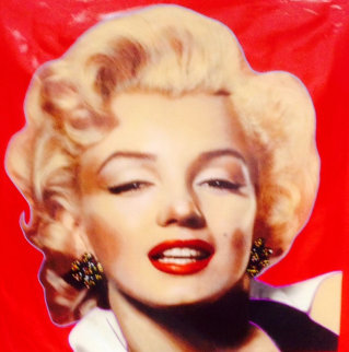 Hollywood Beauty Marilyn 1996 Unique 48x48 Super Huge Original Painting - Steve Kaufman