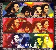Beatles-Hard Day's Night, Unique  60x60 Huge  Original Painting by Steve Kaufman - 0